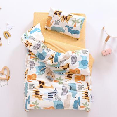 2021新款60支贡缎全棉婴童套件长绒棉儿童套件 被套 动物王国