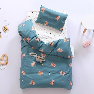 2021新款60支贡缎全棉婴童套件长绒棉儿童套件 被套 小熊杰米