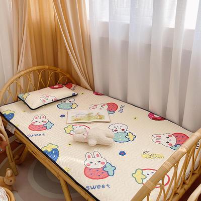 2021新款-儿童凉感乳胶席 60*120cm 草莓兔兔