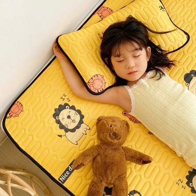 2021新款-儿童凉感乳胶席 60*120cm 老虎狮子