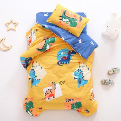2021全棉无荧光幼儿园套件 2斤丝棉款六件套 涂鸦恐龙 黄