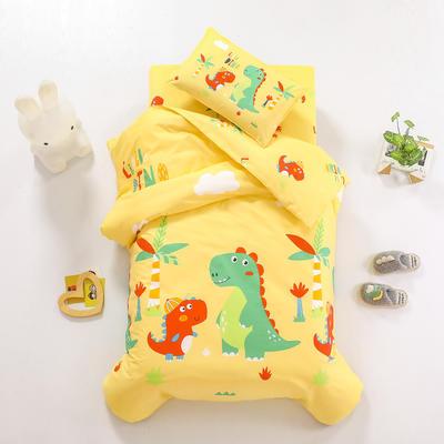2021全棉无荧光幼儿园套件 2斤丝棉款六件套 恐龙兄弟黄