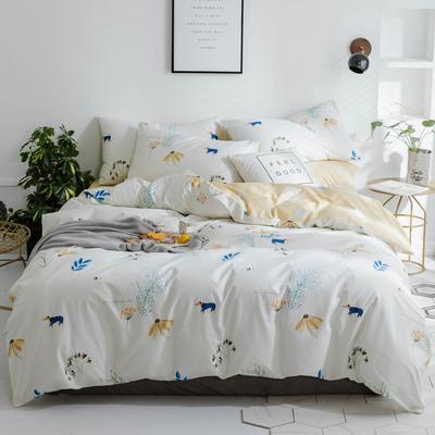 小清新系列全棉四件套(小清新) 标准1.5m-1.8m床单款 欢喜蜜桃