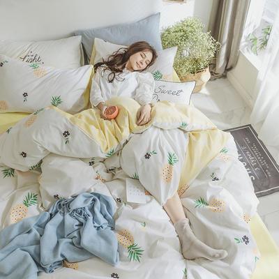 小清新系列全棉四件套(小清新) 小号1.2m床单款 菠萝