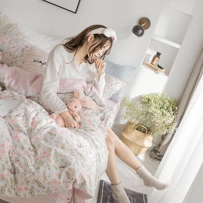 小清新系列全棉四件套(小清新) 小号1.2m床单款 拥抱自然