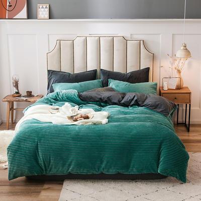 2019新款魔法绒四件套 1.2m床单款三件套 魔法绒-翠绿色