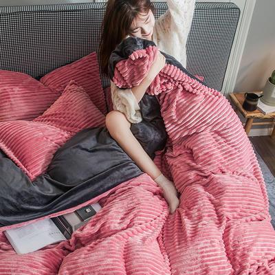 2019新款魔法绒四件套 1.2m床单款三件套 魔法绒-粉灰色