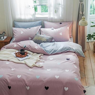 小清新系列全棉四件套(小清新) 标准1.5m-1.8m床单款 甜蜜的爱