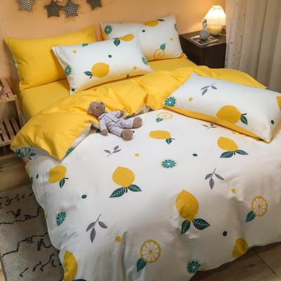 2020新款全棉13372三件套-实拍 1.2m床单款三件套 大柠檬