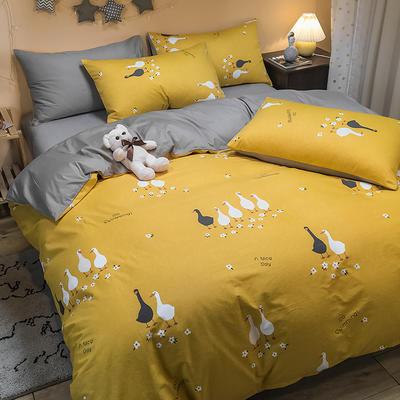 2020新款全棉13372三件套-实拍 1.2m床单款三件套 可爱鸭