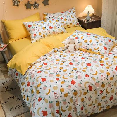 2020新款全棉13372三件套-实拍 1.2m床单款三件套 水果派对