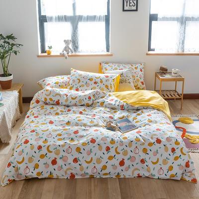 2020新款全棉13372小清新四件套 1.2m床单款三件套 水果家族
