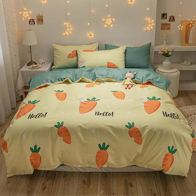 2020新款全棉13372四件套-实拍 1.2m床单款三件套 新爱吃萝卜