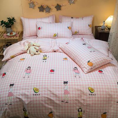 2020新款全棉13372四件套-实拍 1.2m床单款三件套 幸运女孩