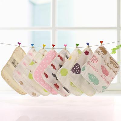 婴童纱布口水巾 小方巾