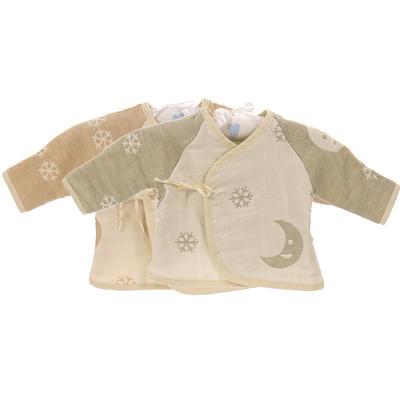 天然彩棉婴儿挖背衫  小衣服六层纱布