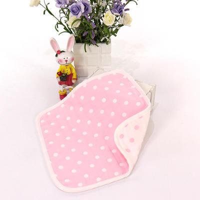 2017 新款儿童方巾-粉点 粉色点(25cm)