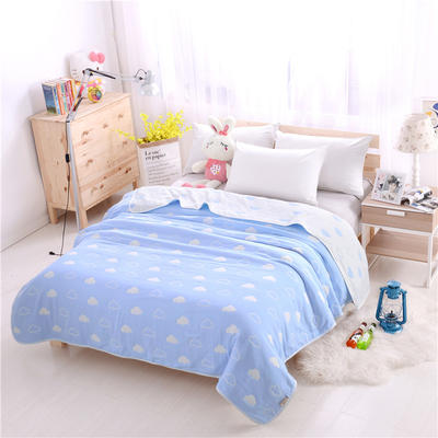 婴童用品六层毛巾被 蓝天白云加厚六层毛巾被 蓝天白云加厚六层毛巾被(150*200)