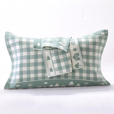 枕巾三层锁边枕巾 枕巾21 52*76 枕巾21