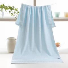 水立方毛巾浴巾-蓝 70*140