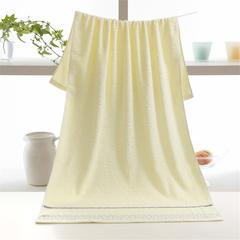 水立方毛巾浴巾-米黄 70*140