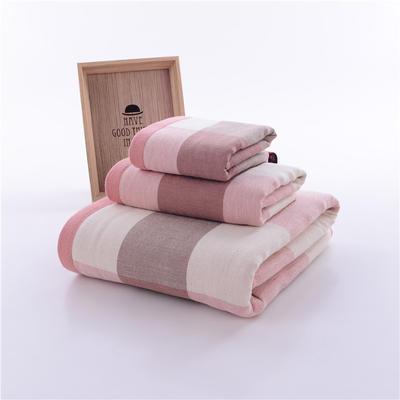 英伦大格毛巾浴巾-1 75*145