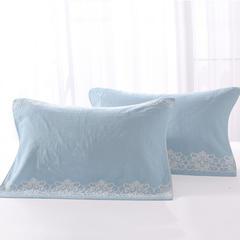 双层无捻毛圈枕巾-蕾丝1(颜色1) 颜色1(对)