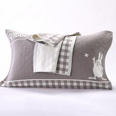 三层兔子枕巾(颜色图1) /对