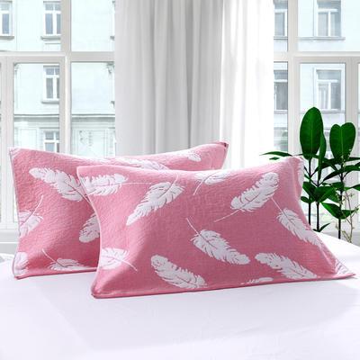 三层加大枕巾羽毛系列 粉色 55*85cm 粉色
