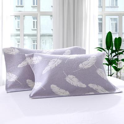 三层加大枕巾羽毛系列 灰色 55*85cm 灰色
