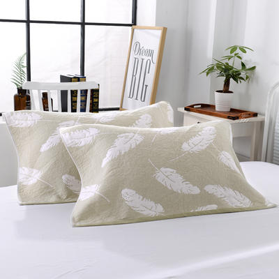 三层加大枕巾羽毛系列 苹果绿 55*85cm 苹果绿