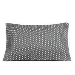 三层水洗棉枕巾 繁星点点深灰 52*75cm 深灰