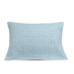 三层水洗棉枕巾 菱形块蓝 52*75cm  蓝