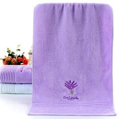 毛巾浴巾系列 薰衣草之恋毛巾  紫色 紫色(34*76)
