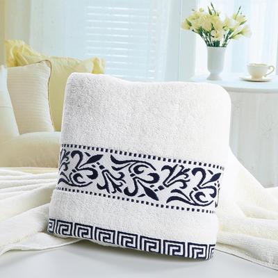 毛巾浴巾 青花瓷毛巾 蓝色34*76cm 蓝色
