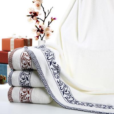 毛巾浴巾 青花瓷浴巾 蓝色70*140cm 蓝色