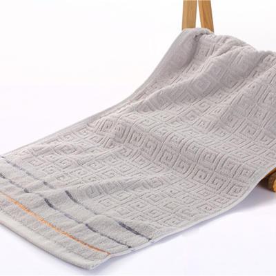 毛巾浴巾 长城格毛浴巾 灰34*76cm 灰