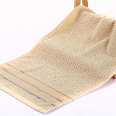 毛巾浴巾 长城格毛浴巾 卡其34*76cm 卡其