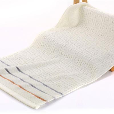 毛巾浴巾 长城格毛巾  米白34*76cm 米白