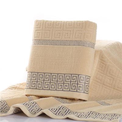 毛巾浴巾 长城格浴巾  卡其70*140cm 卡其