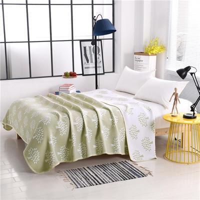 2018新款盖毯系列 包边系列盖毯(总) 200*230cm 发财树(可加枕套)绿