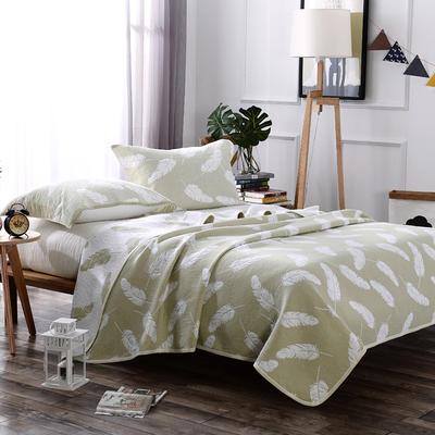 2018新款盖毯系列 包边系列盖毯(总) 200*230cm 轻羽(可加枕巾)绿