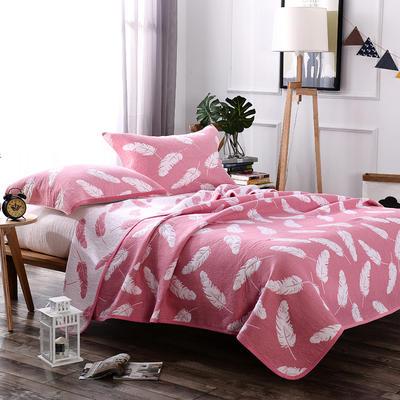 2018新款盖毯系列 包边系列盖毯 轻羽(可加枕巾) 粉 200*230cm 粉