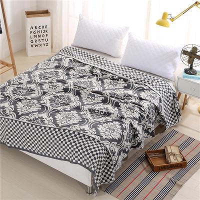 2018新款盖毯系列 定版系列盖毯 欧式风情 (总) 150*200cm 深灰