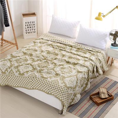 2018新款盖毯系列 定版系列盖毯 欧式风情 草绿 150*200cm 草绿