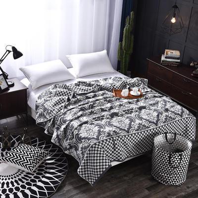 2018新款盖毯系列 定版系列盖毯 欧式风情 黑 150*200cm 黑