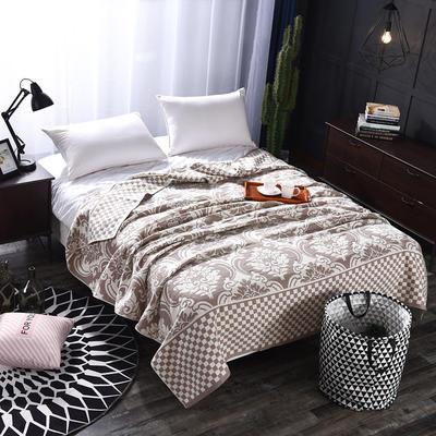 2018新款盖毯系列 定版系列盖毯 欧式风情 灰 150*200cm 灰
