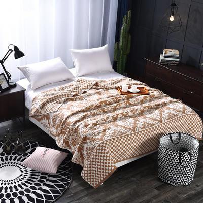 2018新款盖毯系列 定版系列盖毯 欧式风情 咖啡 150*200cm 咖啡