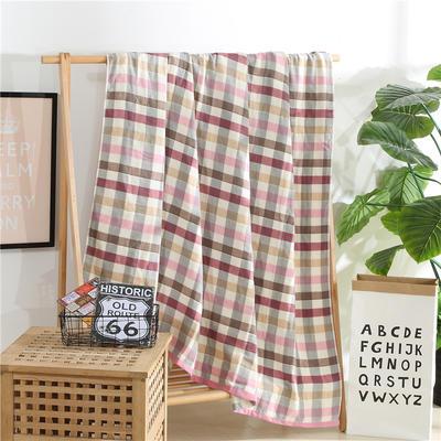 2018新款盖毯系列 定版系列盖毯 田字格(总) 200*230cm 粉