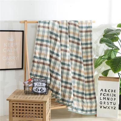 2018新款盖毯系列 定版系列盖毯 田字格(总) 200*230cm 绿